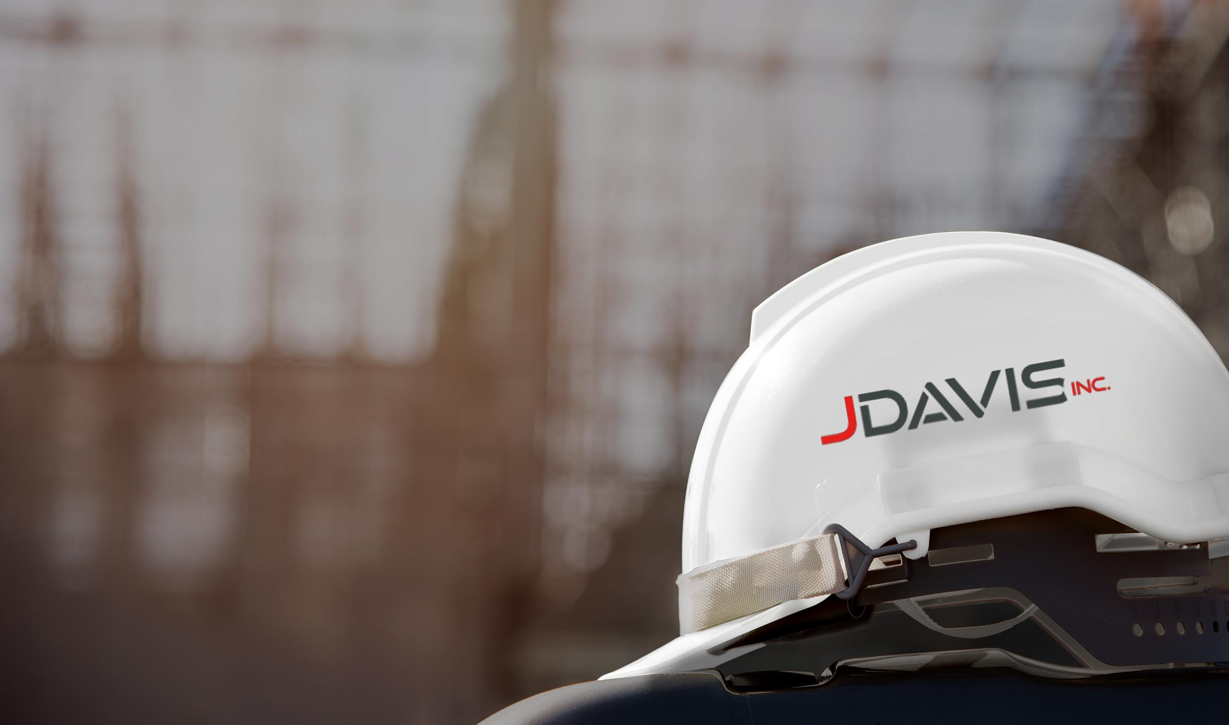 Closeup of JDavis hardhat