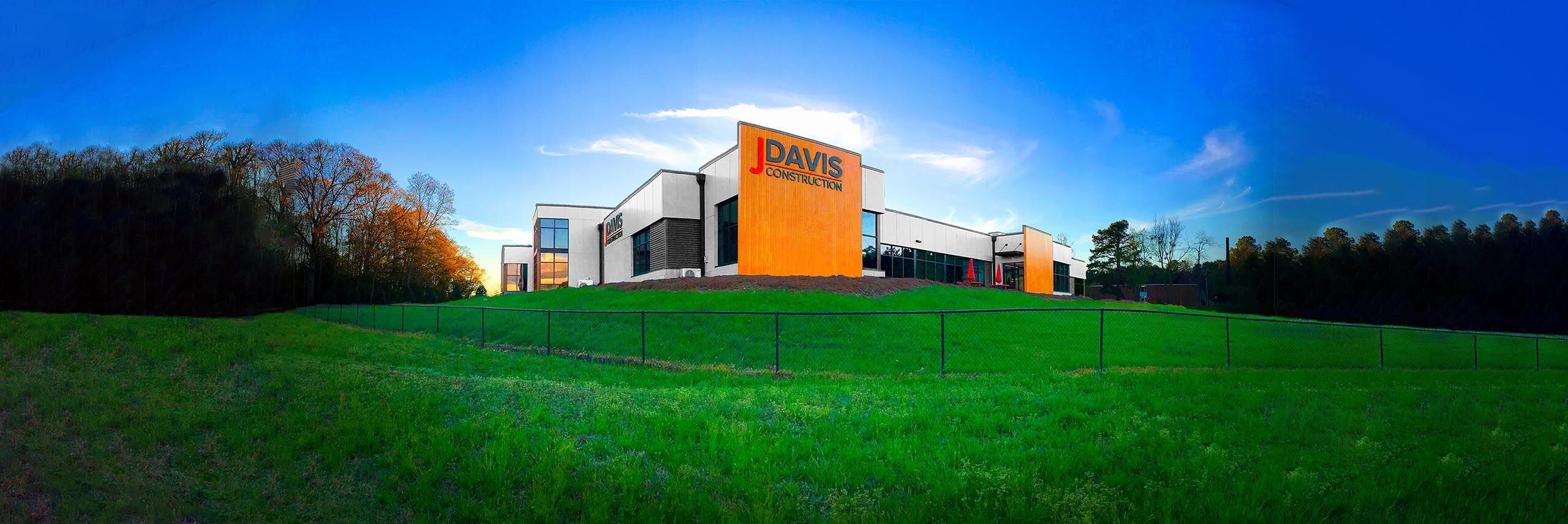 JDavis main office building panoramic view from Interstate 85