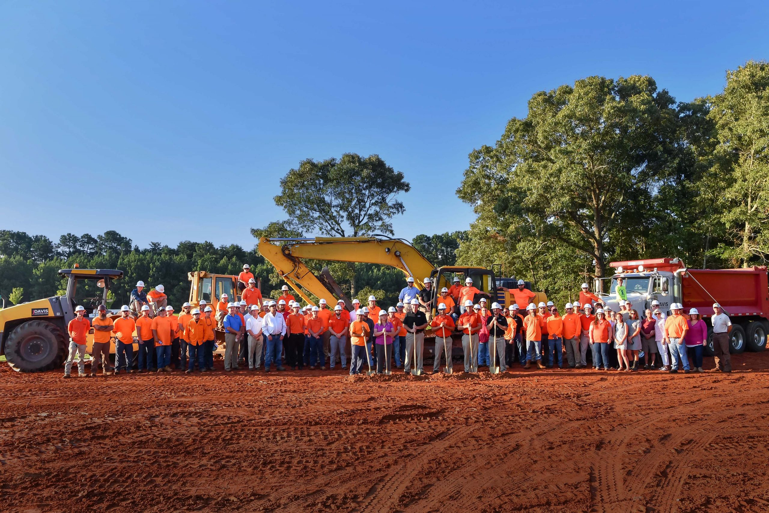Entire JDavis team at groundbreaking